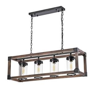 Daniela 4-light Antique Metal and Wood