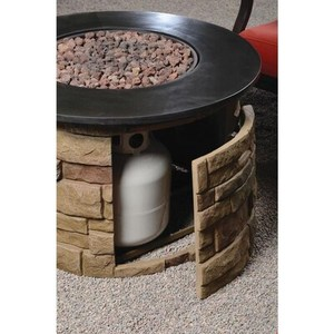 Bond Bond Signature 36.6-in W 50000-BTU Brown Composite Fire Table