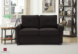 Lifestyle Solutions Agusta Twin Java Loveseat With Pullout Bed