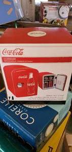 Classic Coca Cola 4 Liter/6 Can Portable Fridge/Mini Cooler for Food, Beverages, Skincare
