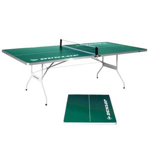 "DUNLOP Mid Size 96"" EZ-Fold Indoor-Outdoor Portable Table Tennis, 100% Pre-assembled, Green"