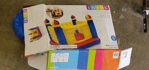 Intex Inflatable Colorful Jump-O-Lene Kids Castle Bouncer for Ages 3-6